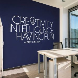 Creativity is Intelligence Wall Decal