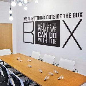 We dont think Outside the Box Wall Decal