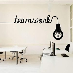 Teamwork Bulb Wall Decal