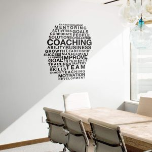 Coaching words cluster Wall Decal