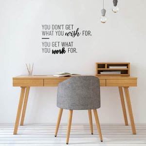 Work For Motivational Wall Decal
