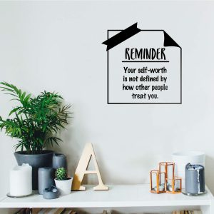 Self Worth Wall Decal