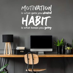 Motivation is what gets you started Wall Decal
