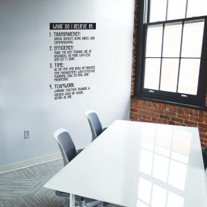 Transparency Teamwork Wall Decal