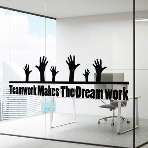 Teamwork makes the Dream work Wall Decal