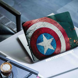 Captain America Shield Laptop Skin