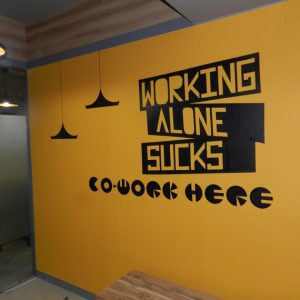 Co-work here Wall Decal