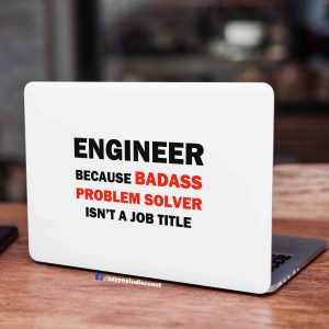 Badass Problem Solver Engineer Laptop Skin