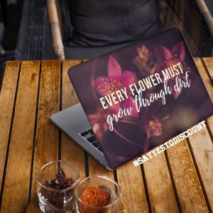 Flower Motivational Laptop Skin