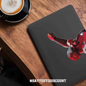 Ironman Grey Background Laptop Skin