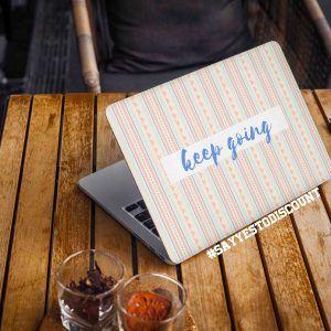 Keep Going Motivational Laptop Skin