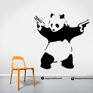 Gangster Panda Banksy Wall Decal