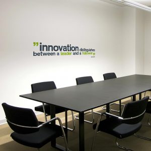 Innovation Distinguishes Wall Decal