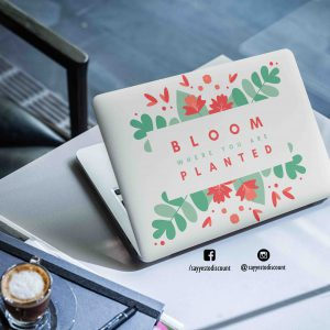 Bloom where Planted Laptop Skin