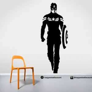 Captain America Walking Wall Decal