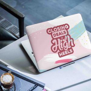 Closing Deals Business Women Laptop Skin