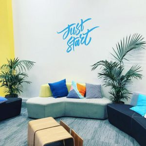 Just Start Wall Decal