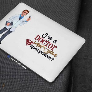 I am a Doctor Laptop Skin