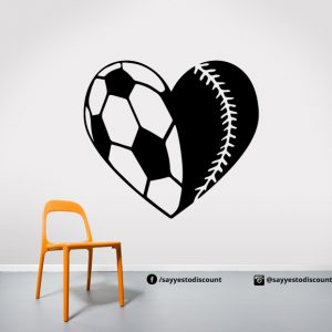 Football Heart Fifa Wall Decal