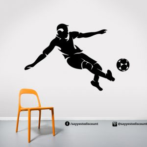 Playing Football Player Wall Decal