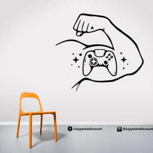 Gamer Hand Wall Decal