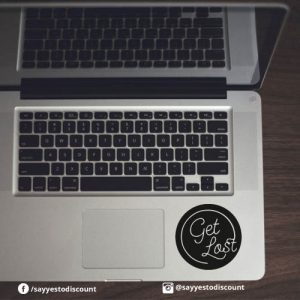 Get-Lost Laptop Decal