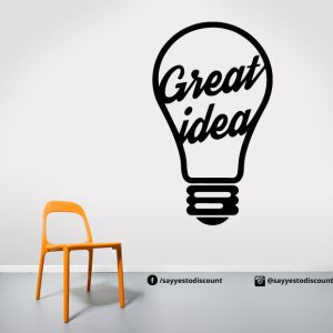 Great idea Bulb Wall Decal