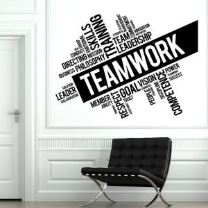 Teamwork Wording Office Wall Decal