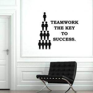 Teamwork Key Office Wall Decal