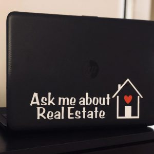 Ask me About Real Estate Laptop Decal