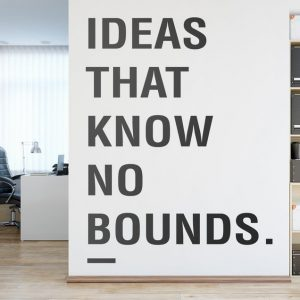 Ideas that Know no Bounds Office Wall Decal