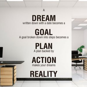 Dream Goal Plan Office Wall Decal