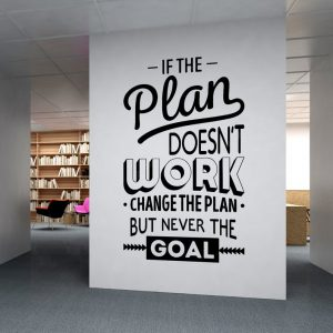 If the Plan Doesnt work Office Wall Decal