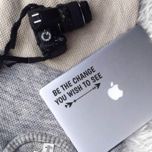 Be The Change  Laptop Decal (Copy)