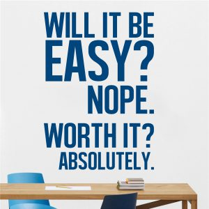 Will it be Easy Office Wall Decal