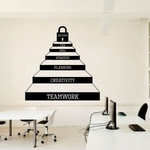 Teamwork Stairs Office Wall Decal