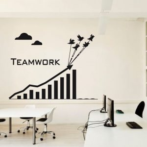 Teamwork Clouds Office Wall Decal