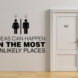 Ideas Can Happen Office Washroom Decal