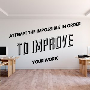 Attempt the Impossible Office Wall Decal