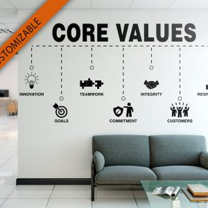 Core Values Office Wall Decal