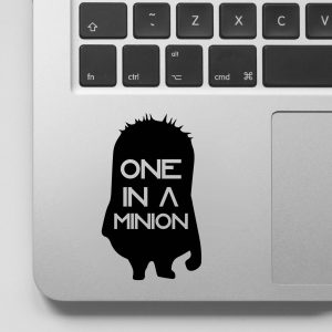 One in a Minion Laptop Decal