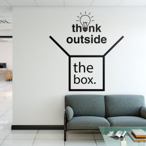 Think Outside the Box Office Wall Decal