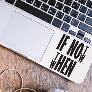 If Not Now Laptop Decal