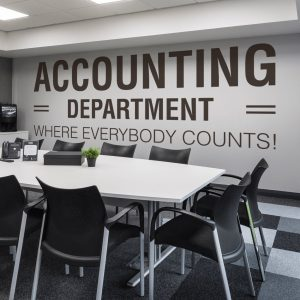 Accounting Department Office Wall Decal