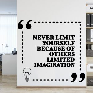 Never Limit Yourself Wall Decal