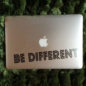 BE DIFFERENT LAPTOP DECAL
