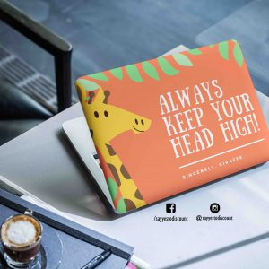 Keep Your Head High Laptop Skin