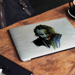 Joker White Minimalist Laptop Skin