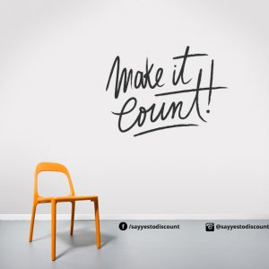 make it count Wall Decal