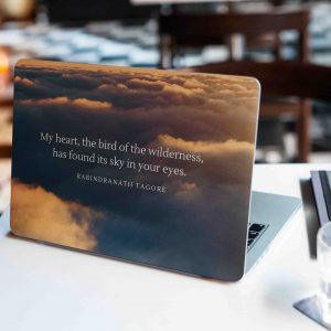 Clouds Motivational Laptop Skin